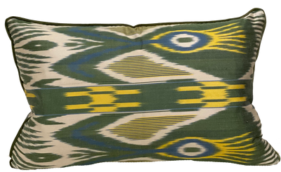 Emin Silk Ikat Green Pillow
