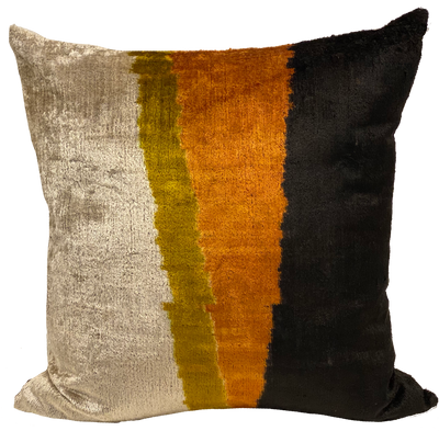 Lin Multi Velvet Ikat Pillow
