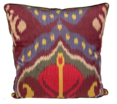 Enver Silk Ikat Multi Pillow