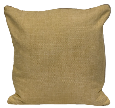Solid Linen Chambray Yellow Pillow