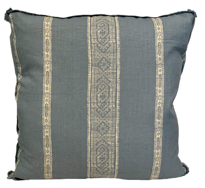 Patmos Stripe Reverse Lake Pillow