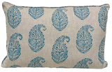 Kashmir Paisley Blue Pillow