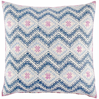 Kojova Blue and Rose Pillow
