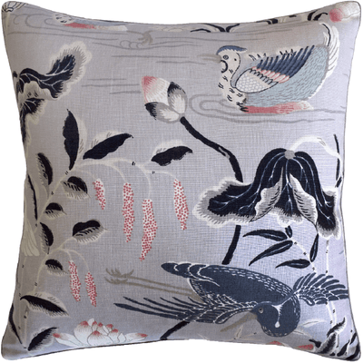 Lotus Garden Lilac Pillow