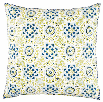 Nira Blue and Lime Pillow