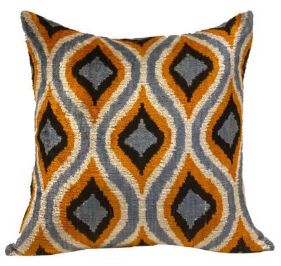 Ogee Multi Velvet Ikat Pillow
