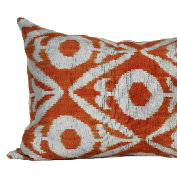 Orange Izmit Velvet Ikat