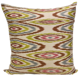 Oval Multi Silk Ikat