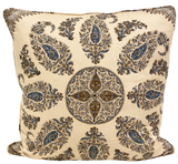 Samarkand Blue and Brown Pillow