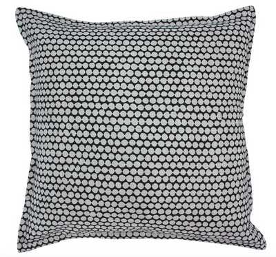 Checkers Charcoal Pillow