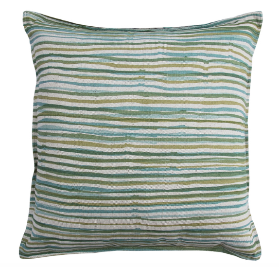 Vert Stripe Wheat Pillow