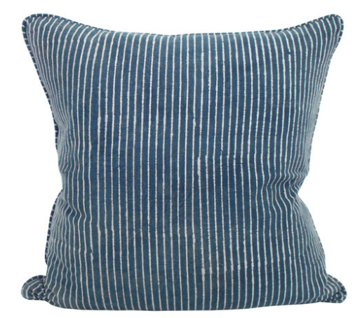 Stokes Indigo Printed Pillow