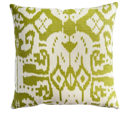 Island Ikat Pistachio Pillow Cover