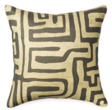 Coffee Kuba Cloth Printed Pillow Cover