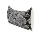 Black Mud Cloth Printed Pillow