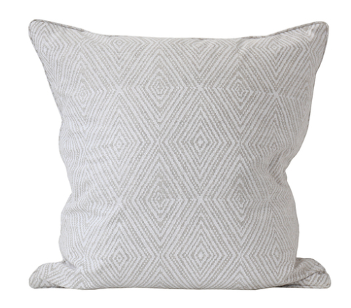Madras Inverse Chalk Printed Pillow