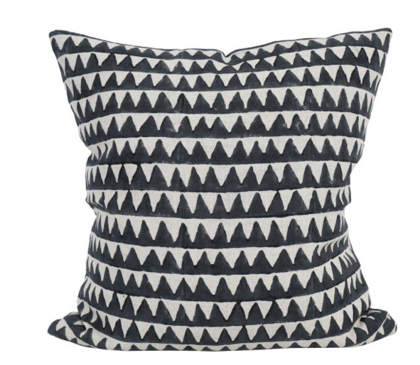 Pyramids Indian Teal Pillow