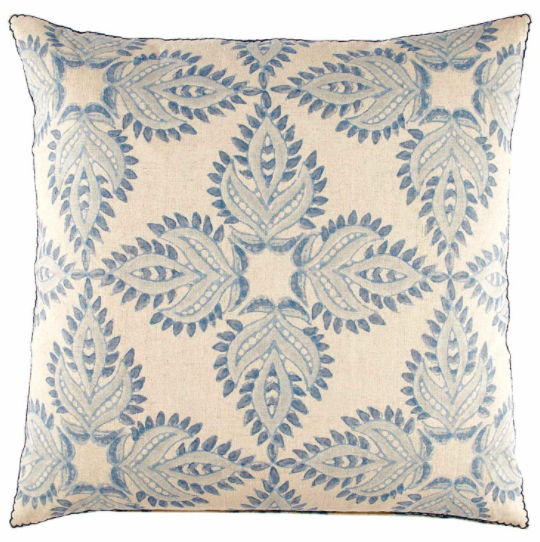 Verdin Lapis Light Blue Pillow