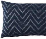 Indigo Herringbone Pillow