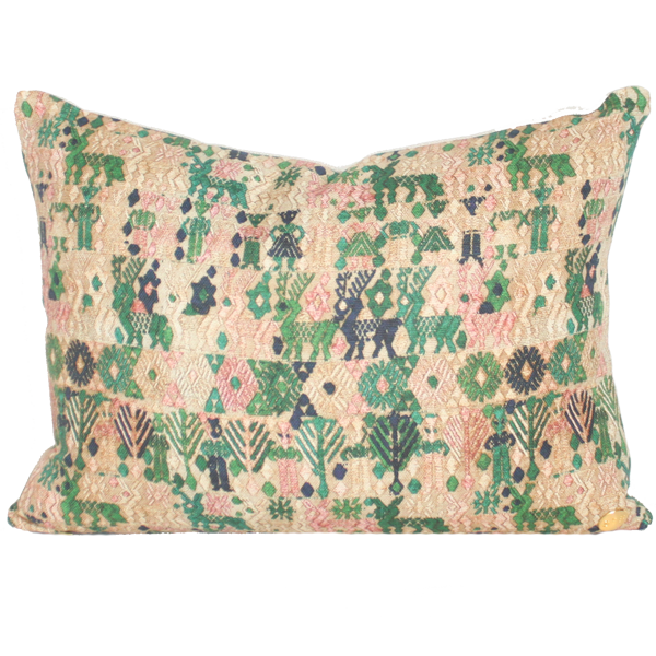 Forest Huipil Printed Pillow