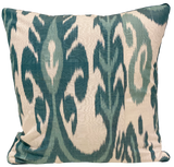 Su Aqua Silk Ikat Pillow