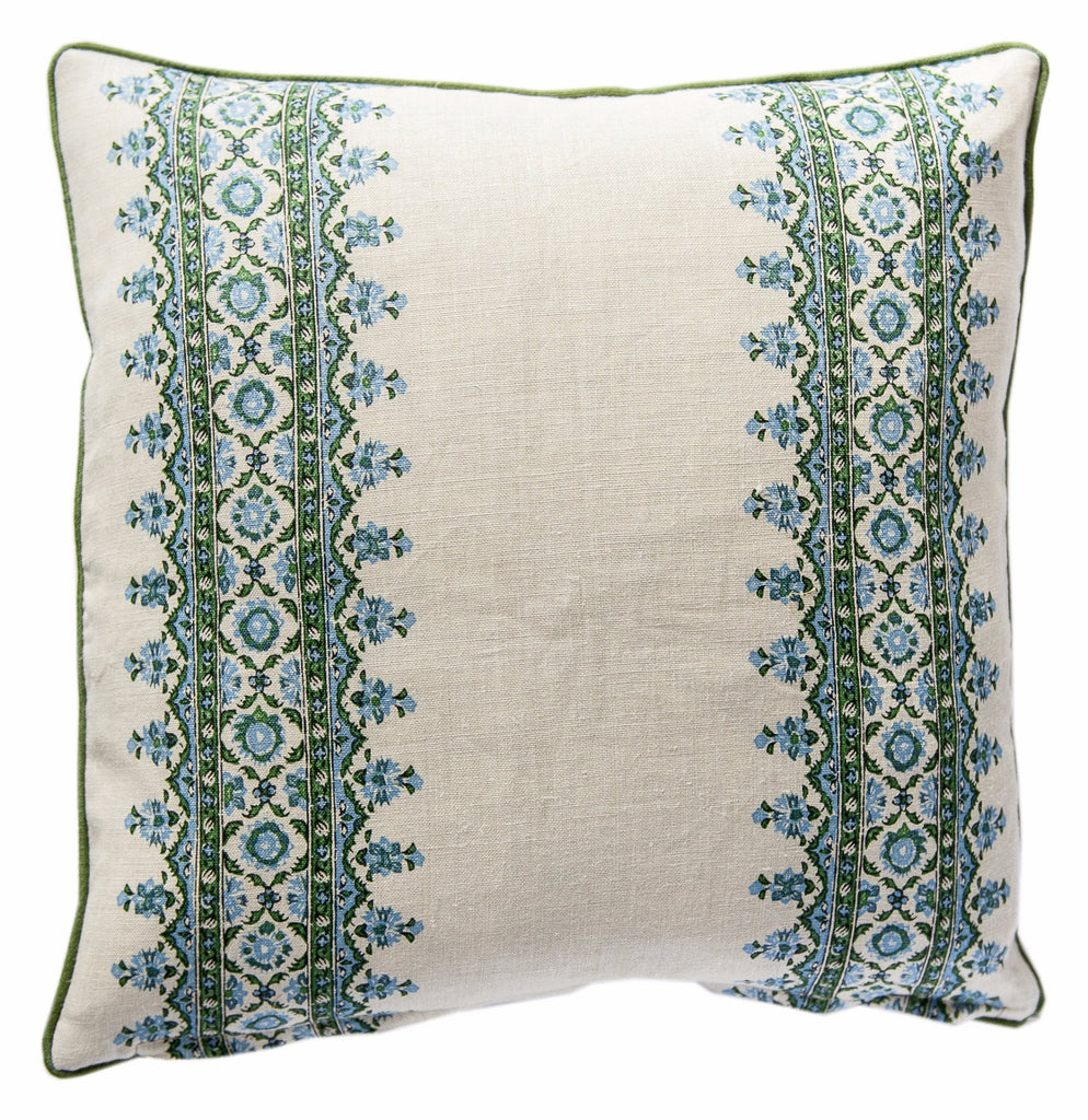 Isafahn Stripe Blue Pillow