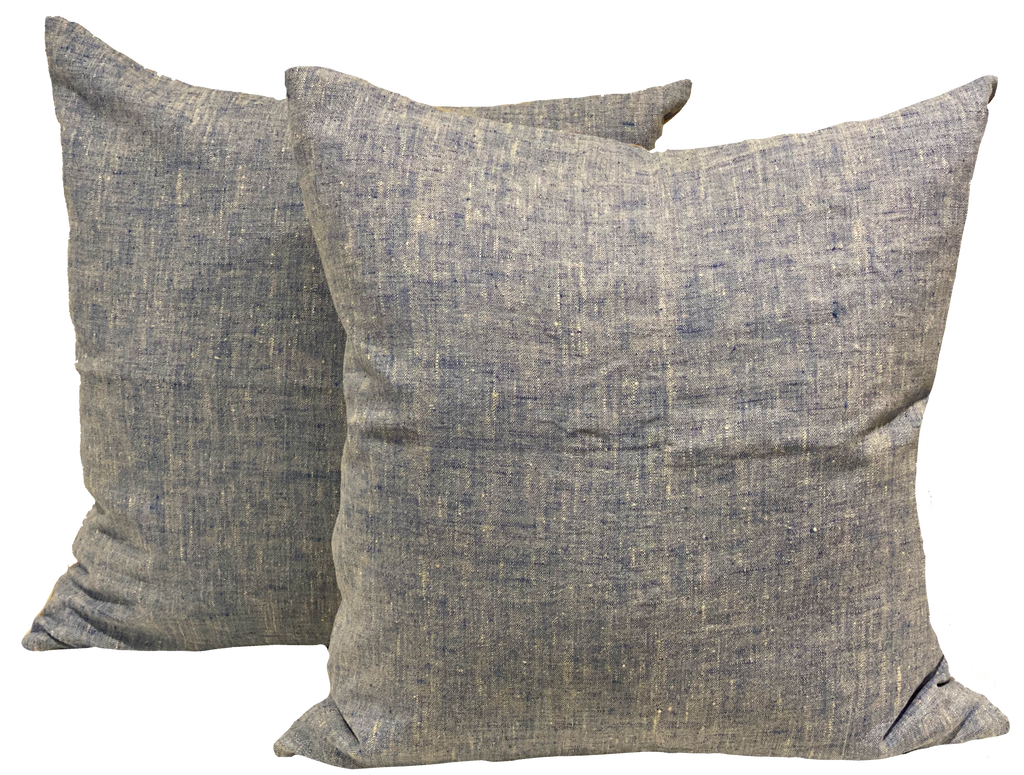 Vintage Chambray Light Blue Pillow Covers (pair)