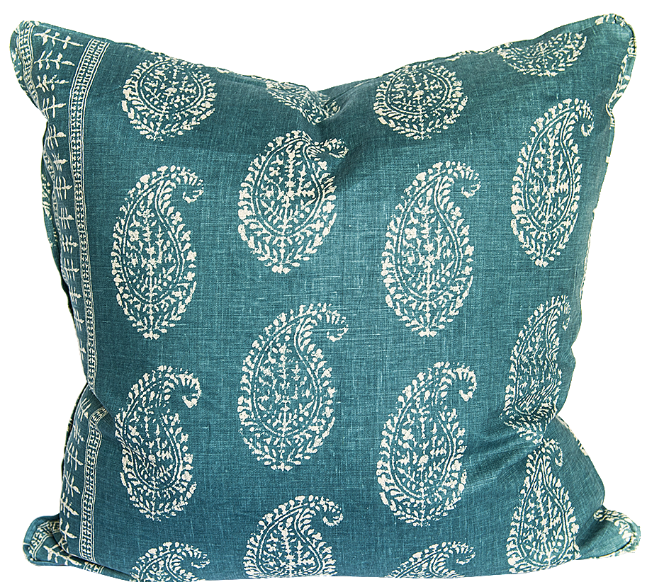 Kashmir Paisley Peacock Pillow