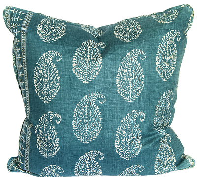 Kashmir Peacock Pillow