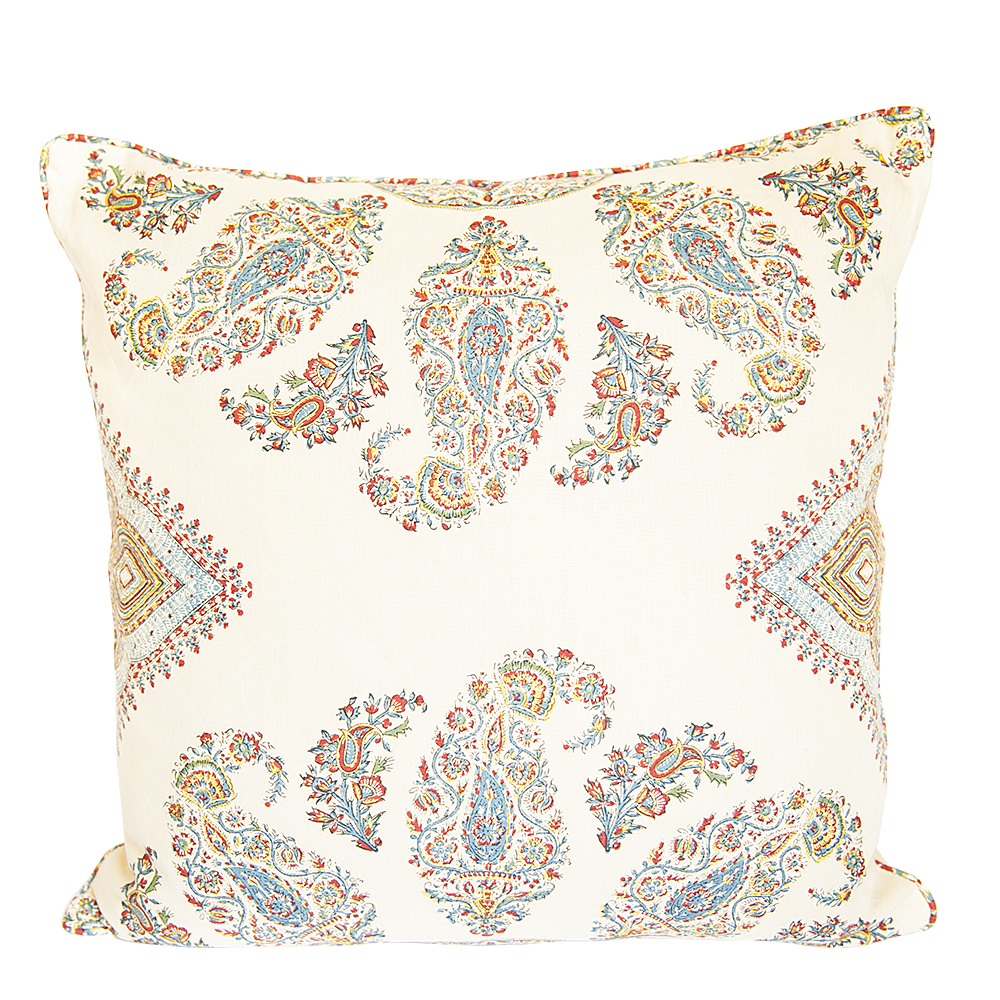 Samarkand Red and Blue Pillow