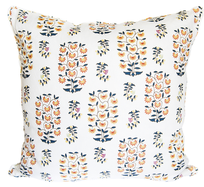 Sultan's Garden Pillow Indigo and Saffron Pillow