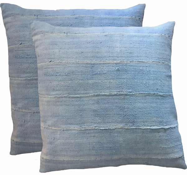 African Blue Mudcloth Pillows (pair)