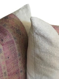 Faded Pink Hmong Pillows (pair)