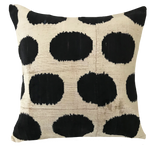 Dot Ikat Black Pillow