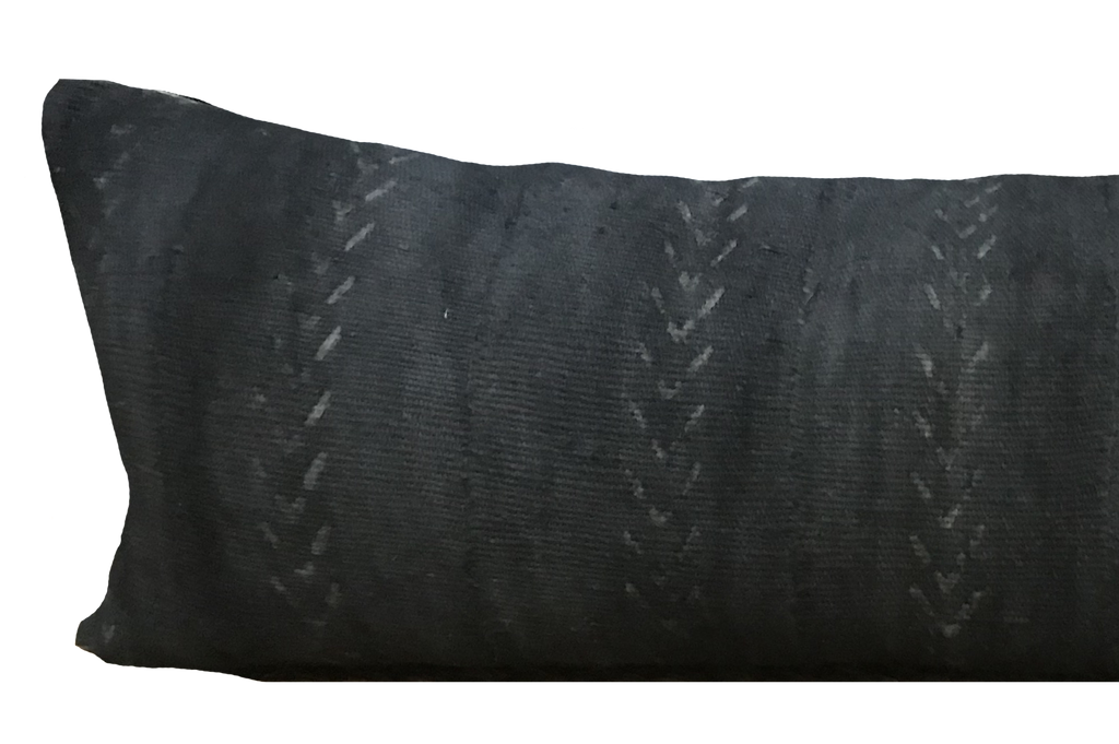 Found Tribal Mudcloth Black Pillow