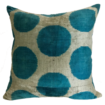 Polka Dot Ikat Pillow