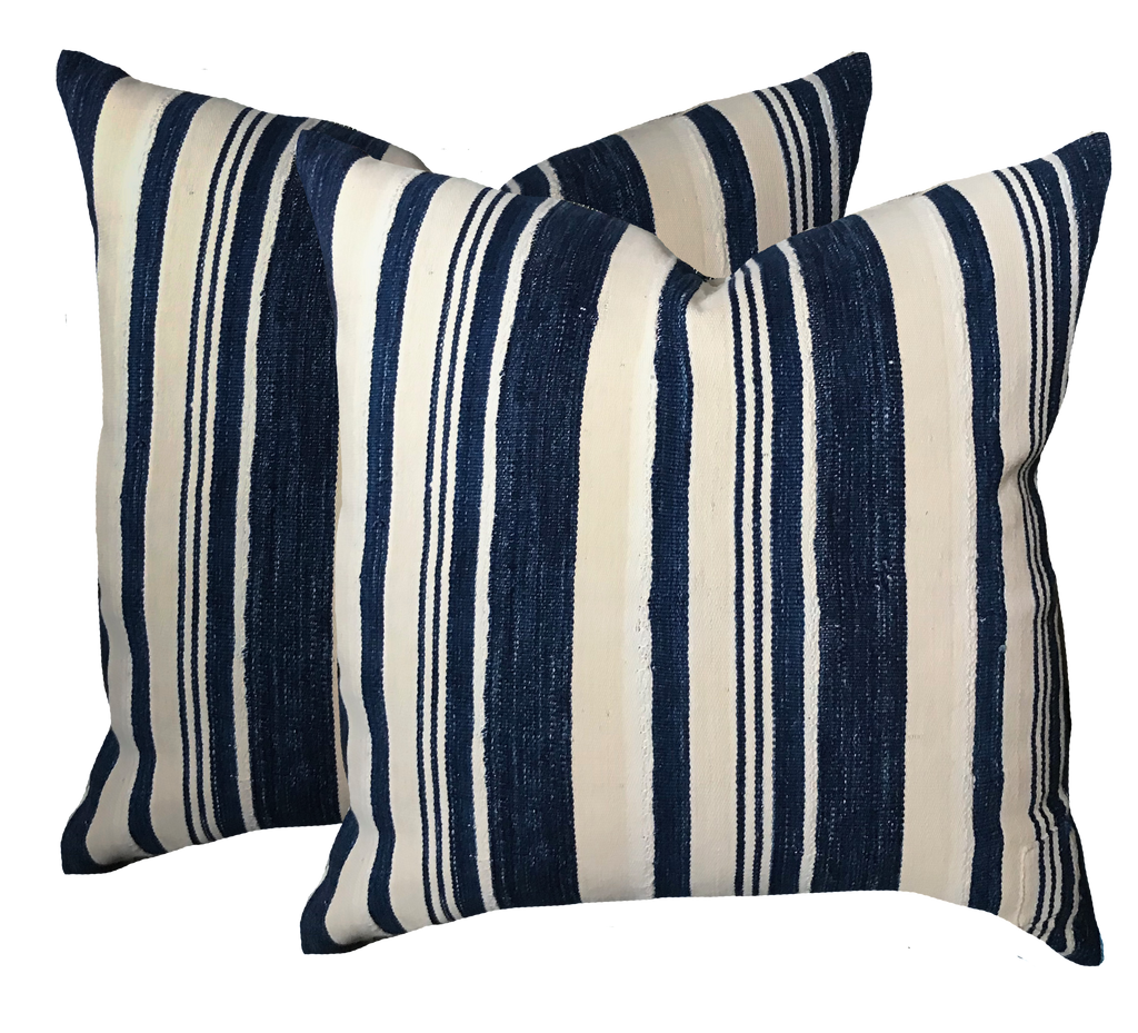 Vintage Denim Stripe Pillow (pair)
