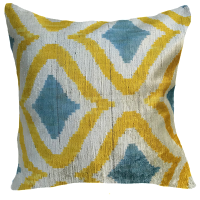 Cagri Velvet Ikat Pillow