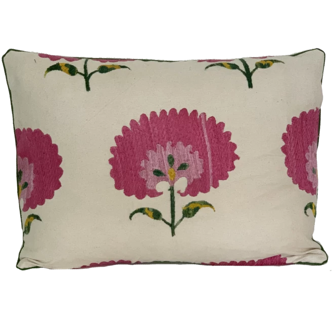 Carnation Suzani Pillow