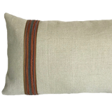 WMH Linen Lumbar with Multi-Colored Trim