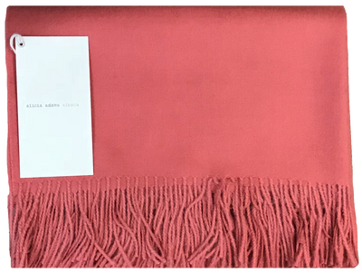 Coral Alpaca Throw