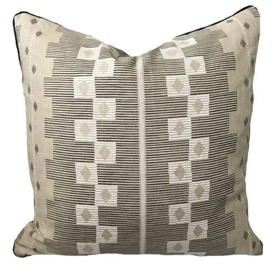Cusco Onyx and Chalk Pillow Cover