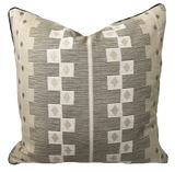 Cusco Onyx and Chalk Pillow