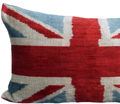 Flag Ikat Red Pillow