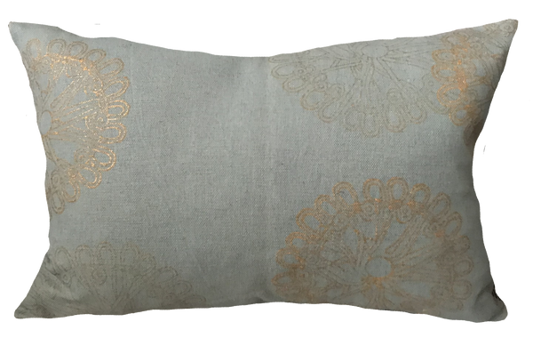 Vintage Gold Medallion Pillow