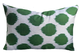 Dot Ikat Green Pillow