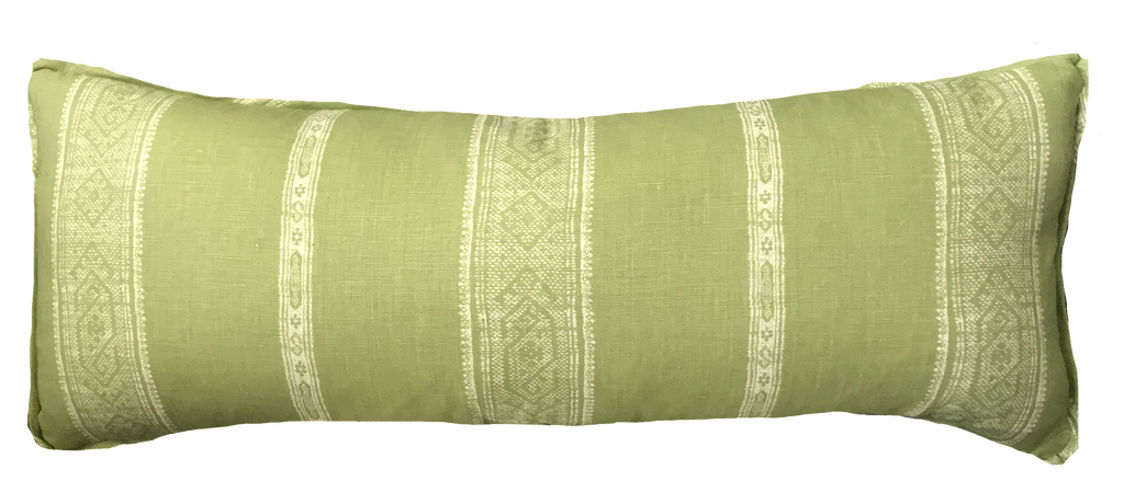 Patmos Reverse Stripe Parsley Pillow