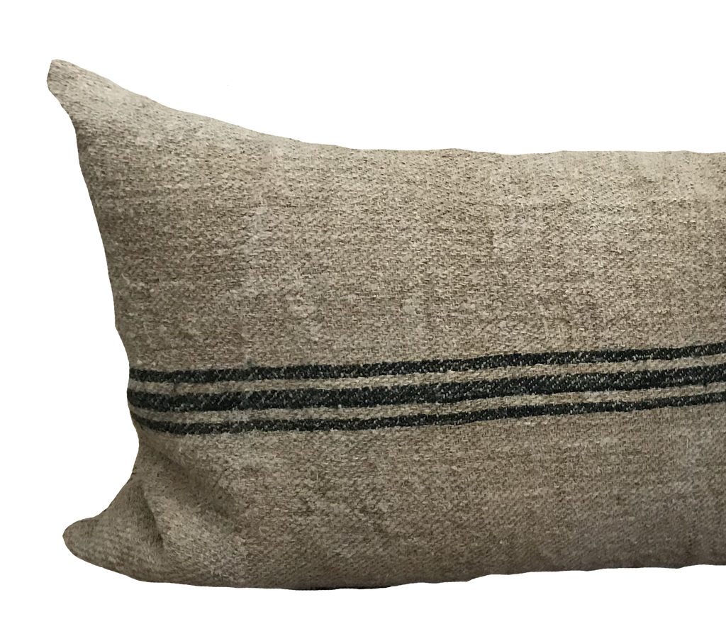 Found Grain Sack Green Pillow