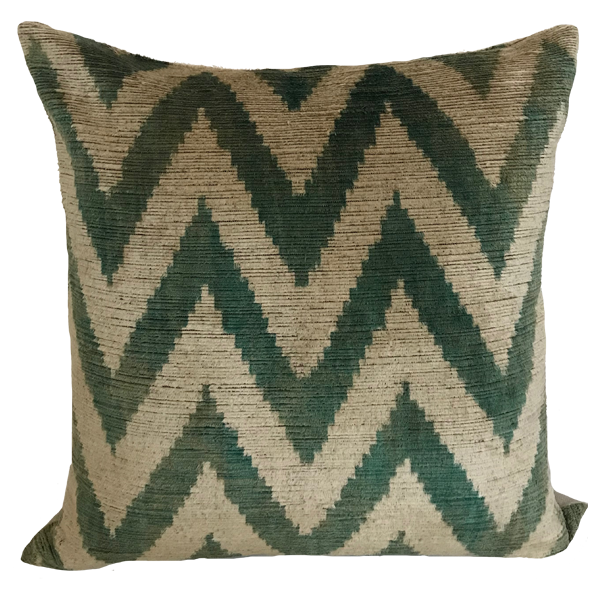 Kiraz Ikat Green Pillow
