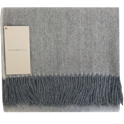 Pearl Grey Alpaca Throw